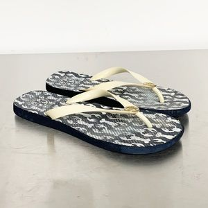 Tory Burch | Navy Blue Crab Flip-Flop Sandal